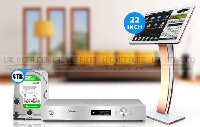 Đầu Karaoke Việt KTV HD Plus 4TB và màn hình cảm ứng Việt KTV 22''