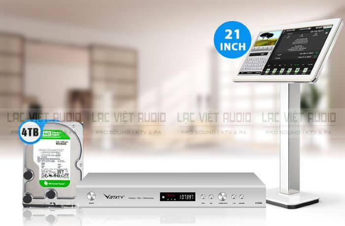 đầu vietktv hd pro 4tb và màn hình cảm ứng Việt KTV 21 inch