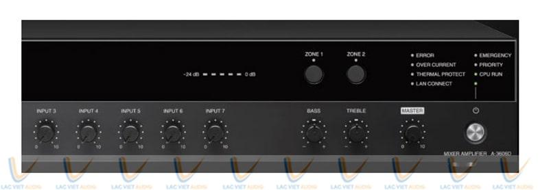 Hệ thống đèn LED và nút điều chỉnh vùng của TOA A-3648D
