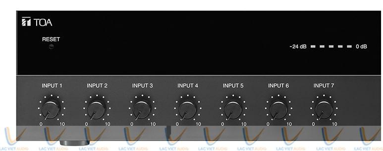 Hệ thống nút điều chỉnh đầu vào của TOA A 3624D