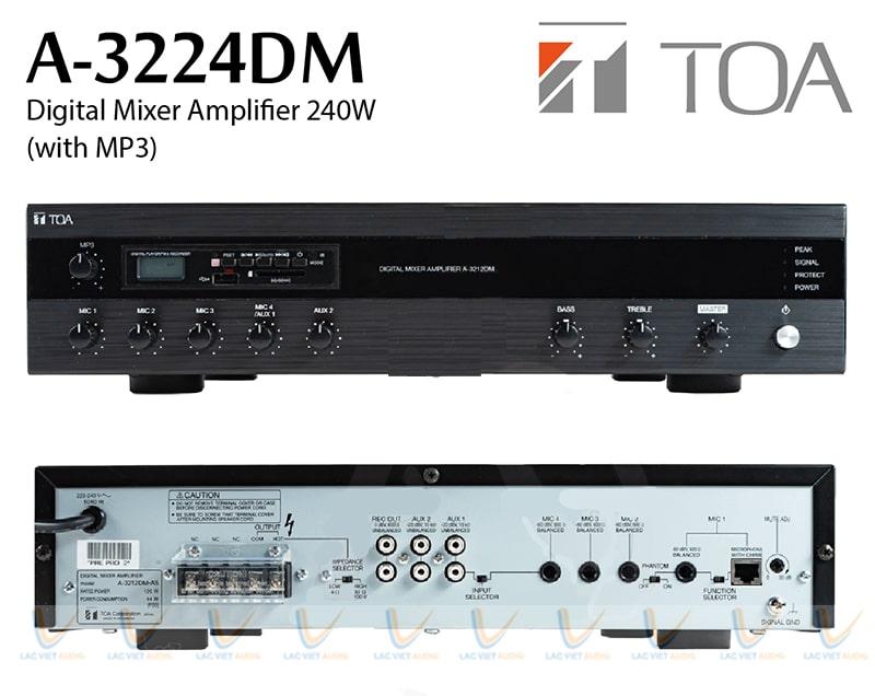 Hệ thống nút điều chỉnh của TOA A-3212DM-AS