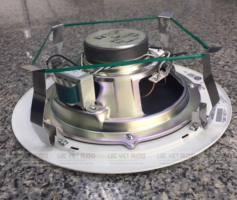 Hình ảnh cấu tạo bên trong loa âm trần TOA-2869