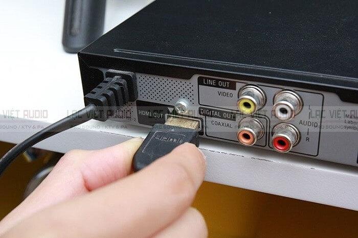 Cách kết nối đầu karaoke Acnos bằng cổng HDMI