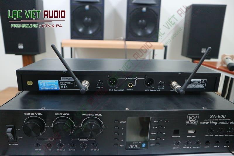 Micro King EW300 kết nối chính xác với nhiều thiết bị âm thanh chuyên nghiệp