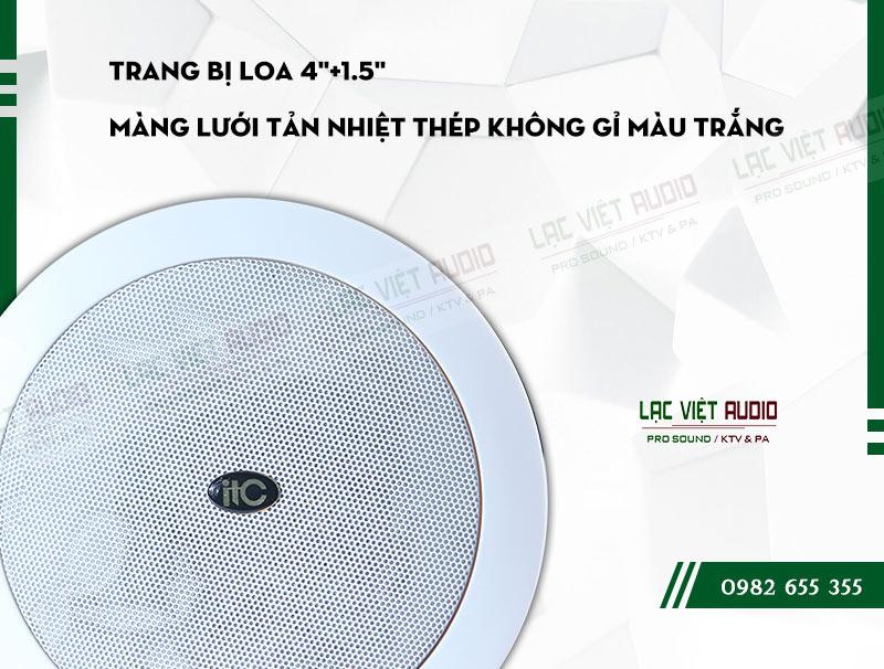 Loa âm trần ITC T 205B được thiết kế gam màu trắng thanh lịch