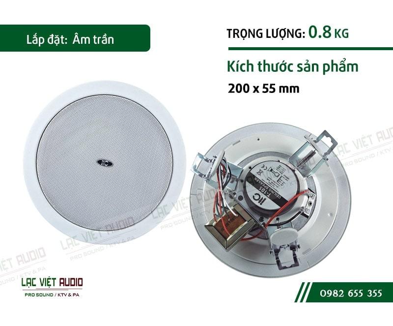 Lắp đặt loa âm trần ITC T-105 nhanh chóng, dễ dàng nhờ kích thước nhỏ, nhẹ