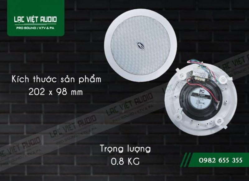 Lắp đặt loa âm trần ITC T-205A dễ dàng vì có kích thước nhỏ gọn