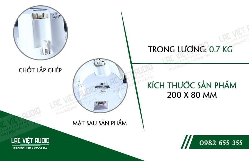 Loa âm trần ITC T-205B nhỏ gọn, dễ dàng lắp đặt