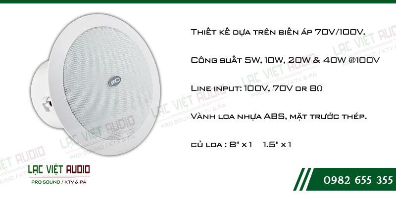 Loa âm trần ITC T-208CW có nhiều ưu điểm nổi bật