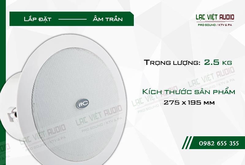 Loa âm trần ITC T 208 CW lý tưởng cho âm thanh công nghiệp và âm thanh thương mại