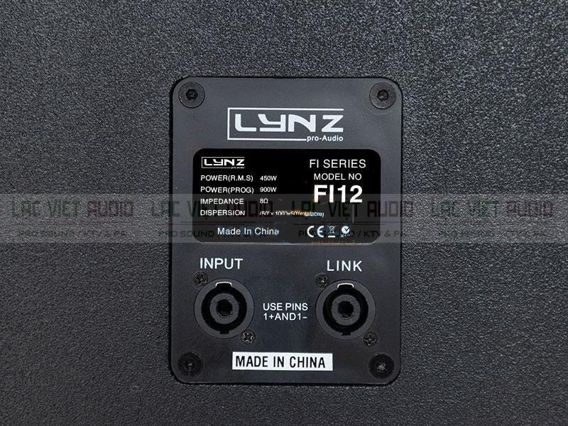 Loa karaoke LYNZ FI12 thông số