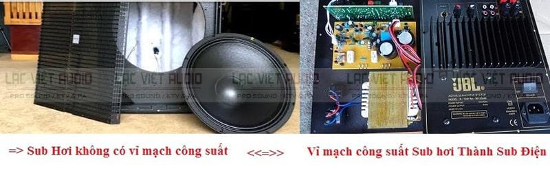 Phân biệt sub hơi và sub điện qua vỉ mạch công suất