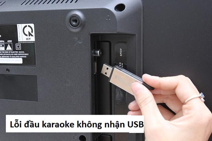 Đầu karaoke không nhận được USB và không hiển thị mã QR Code