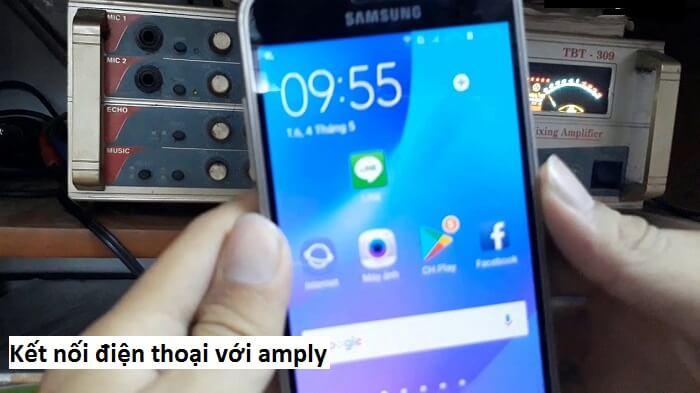 Yêu cầu về khoảng cách khi kết nối điện thoại với amply