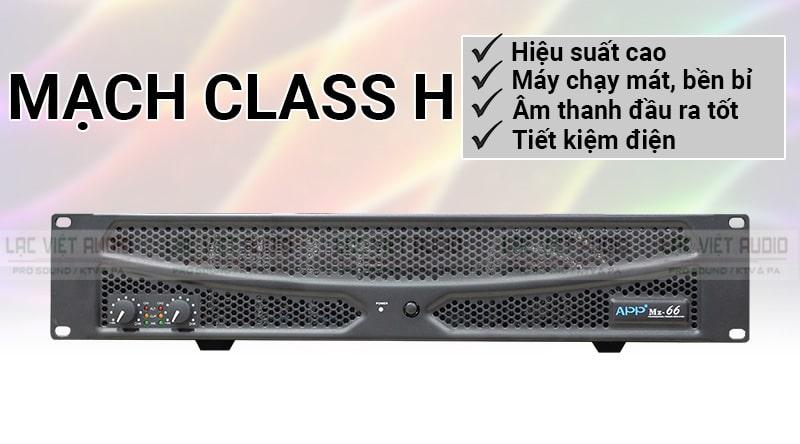 APP MZ-66 được tích hợp mạch class H mang đến hiệu suất cao, âm thanh tốt