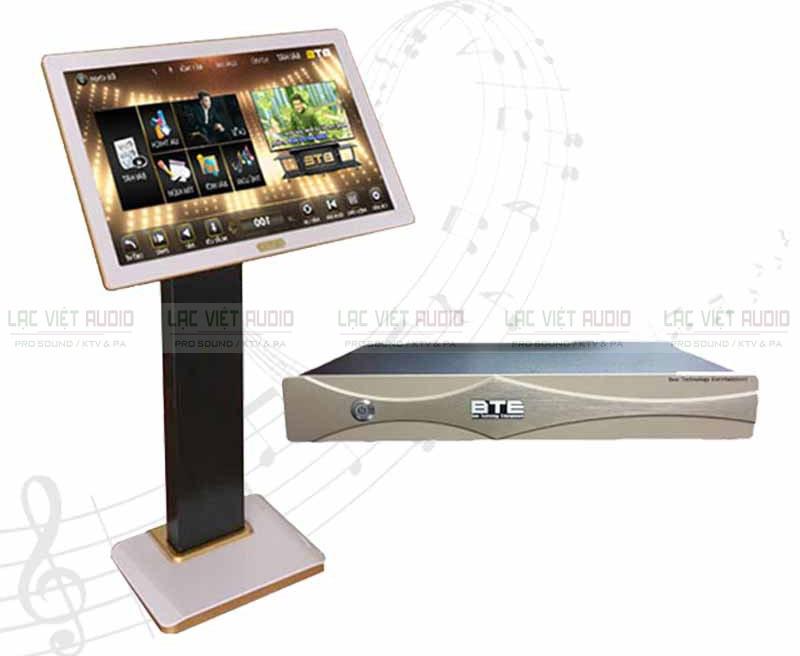 Sử dụng đầu karaoke BTE thông qua màn hình cảm ứng