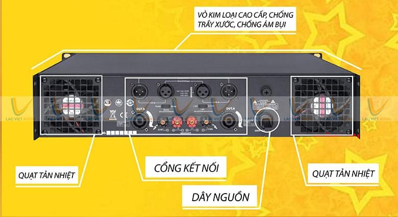Mặt sau được bố trí khoa học giúp dễ dàng kết nối với các thiết bị khác