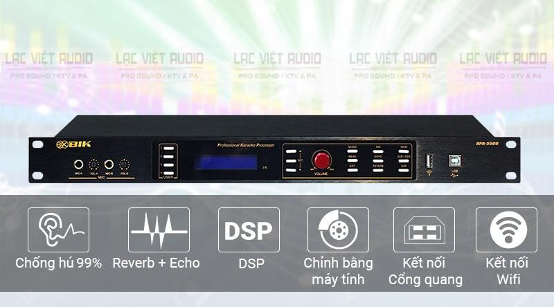 Hệ thống nút, núm chỉnh và màn hình cảm ứng của vang sốBIK BPR-5500