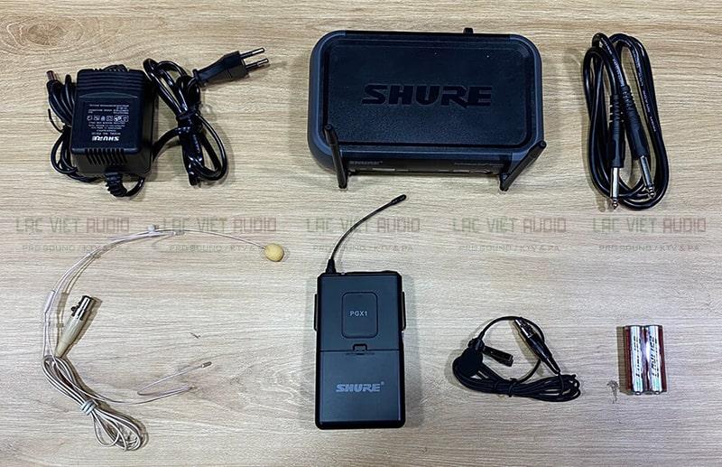 Đầy đủ bộ micro đeo tai không dây SHURE PGX14/WL93 chính hãng