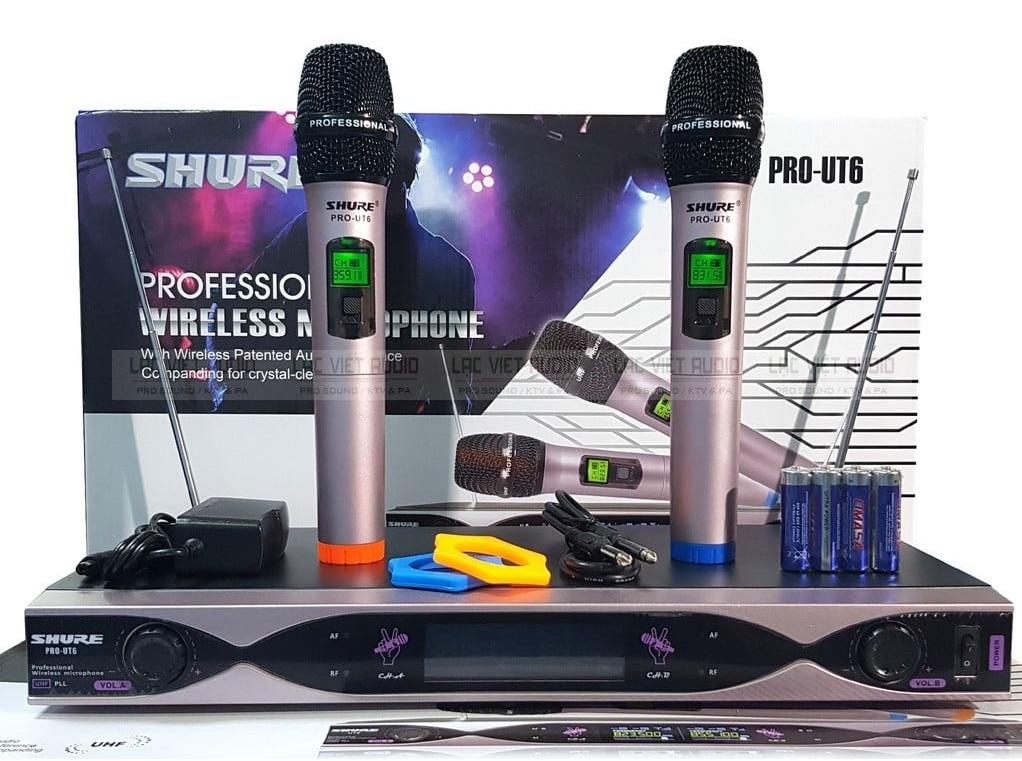 Trọn bộ micro không dây SHURE PRO UT6 chính hãng