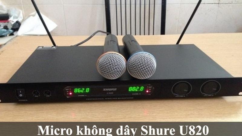 Cách dò lại tần số micro shure u820
