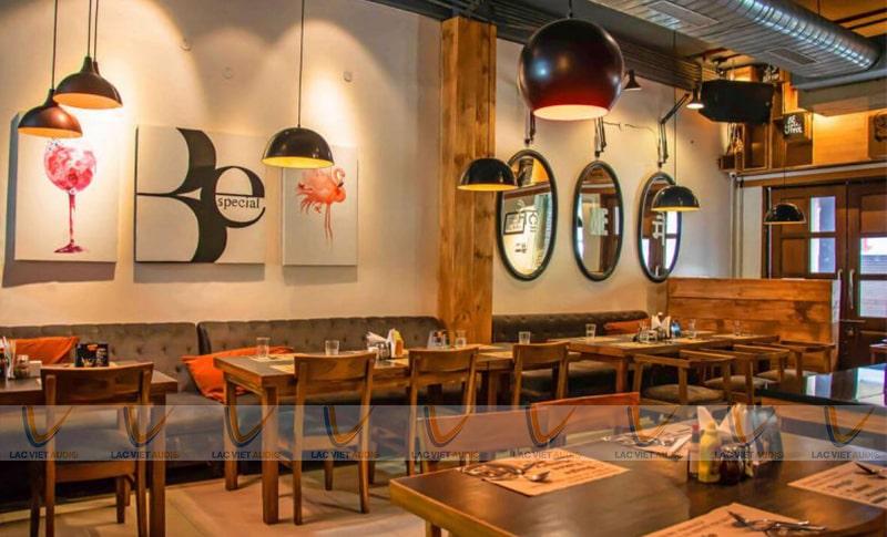 Dàn âm thanh cho quán cafe có thể có nhiều hay ít thiết bị, tùy thiết kế và phong cá