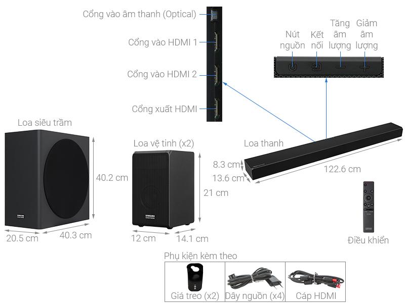 Dàn Samsung 7.1.4 HW-Q90R 510W