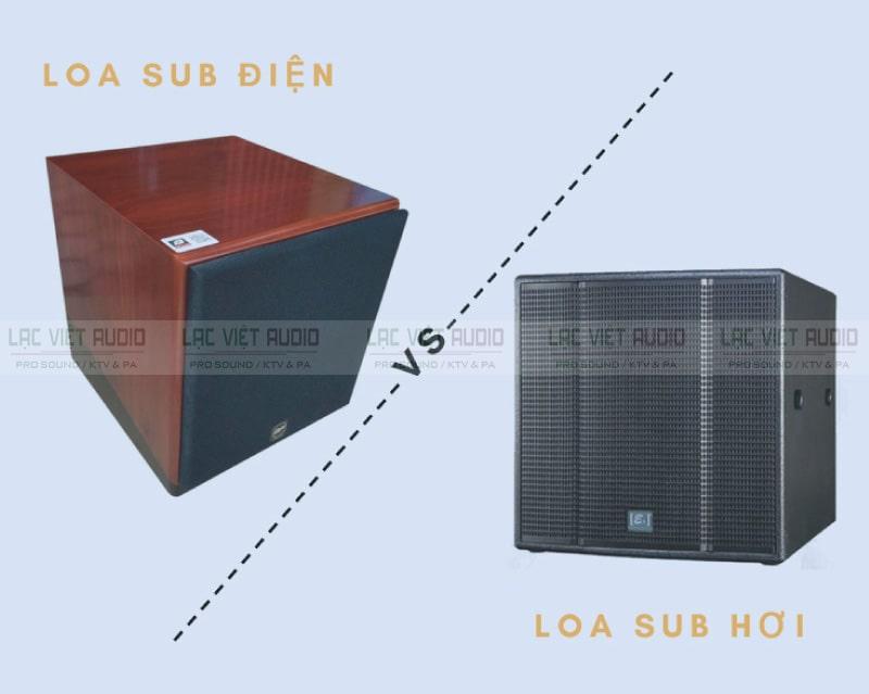So sánh loa sub điện và sub hơi qua phần định nghĩa
