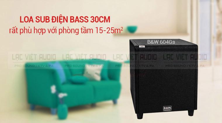 Loa sub BW 604 GS là dòng loa sub điện cho gia đình giá rẻ nhất