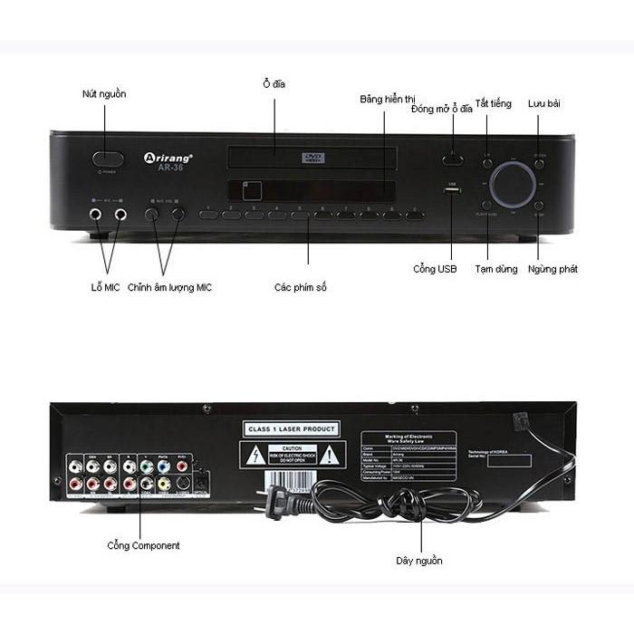Chi tiết đầu Arirang AR 36000 HDMi
