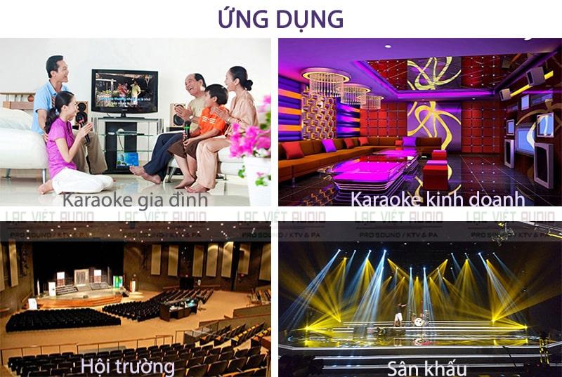 Cục đẩy công suất APP MZ66 ứng dụng cho: dàn karaoke, am thanh hội trường,...