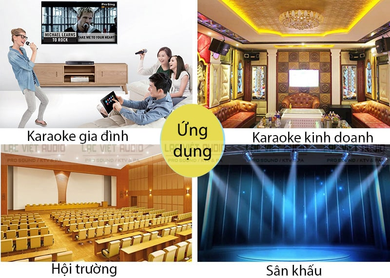 Ứng dụng cục đẩy công suất APP MZ106 cho dàn karaoke, âm thanh hội trường,...