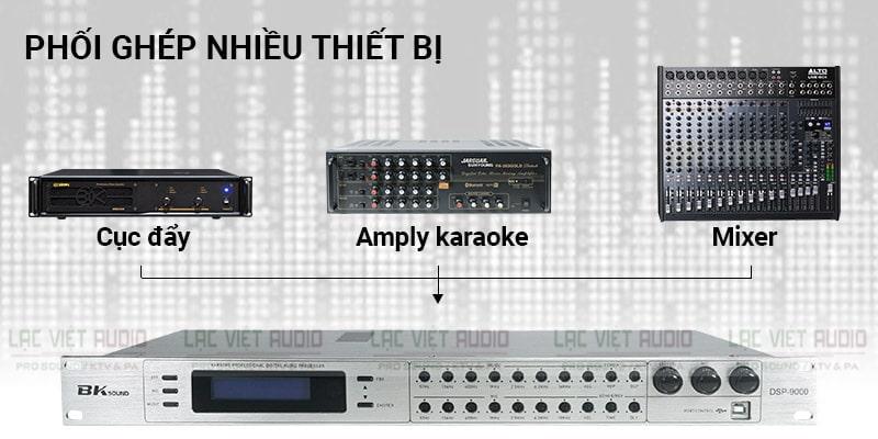 Vang số lai cơ BKsound DSP-9000 White phối ghép được với nhiều thiết bị