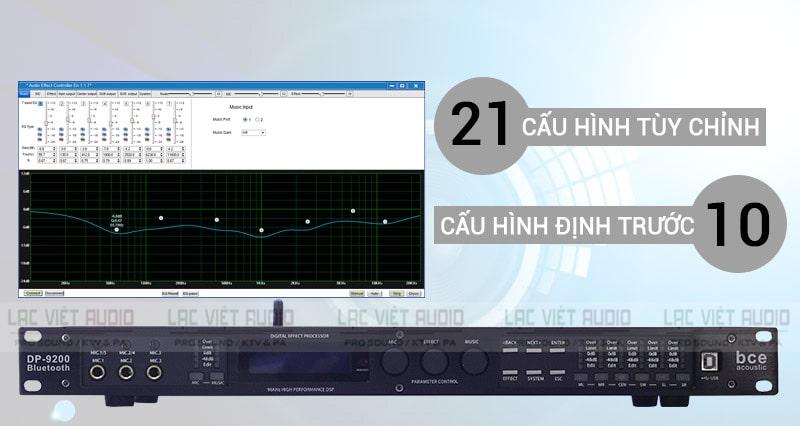 Vang số DP- 9200Bluetooth có phần mềm riêng biệt để xử lý âm thanh