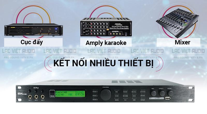 Vang số BKsound X5-Plus phối ghép được với nhiều thiết bị trong dàn âm thanh