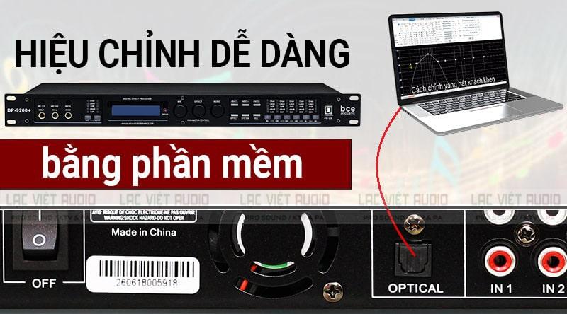 Hiệu chỉnh vang số BK sound X6 Luxury dễ dàng thông qua phần mềm