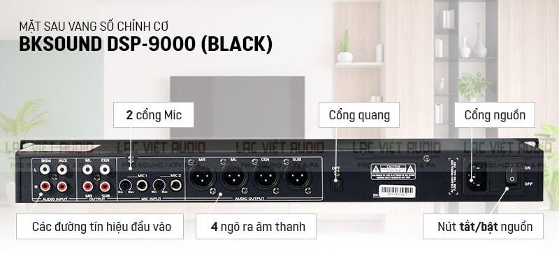 Mặt sau vang cơ lai số DSP 9000 Black
